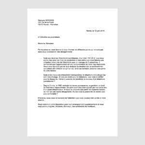Scribe - Exemple de courrier